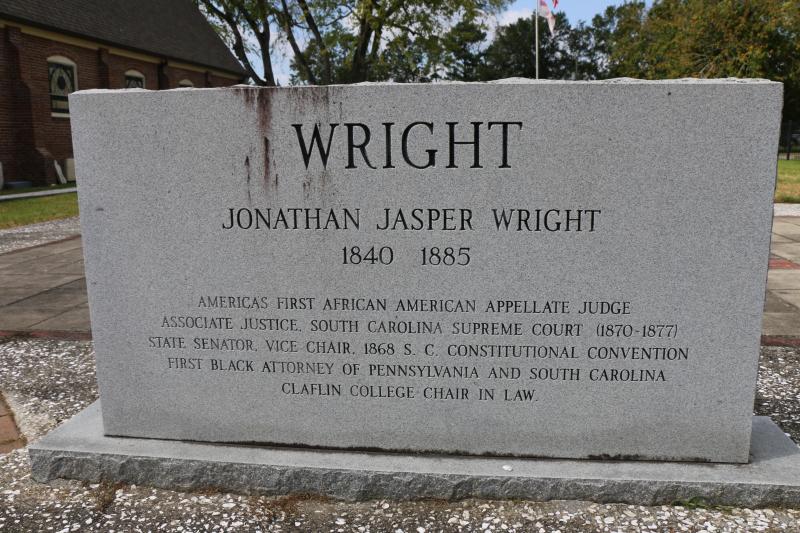 Justice Jonathan Jasper Wright Grave Marker